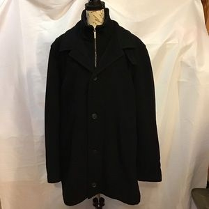 Vintage Hugo Boss Coat with collar side button XXL